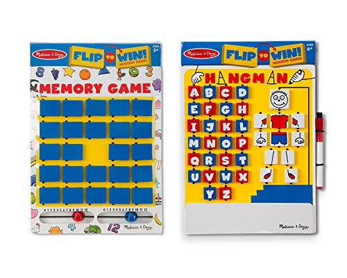 Melissa & Doug Flip to Win Set - Memory Game and Hangman