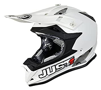 JUST1 casco J32 Pro Kids Solid, color blanco, tamaño 50-ym
