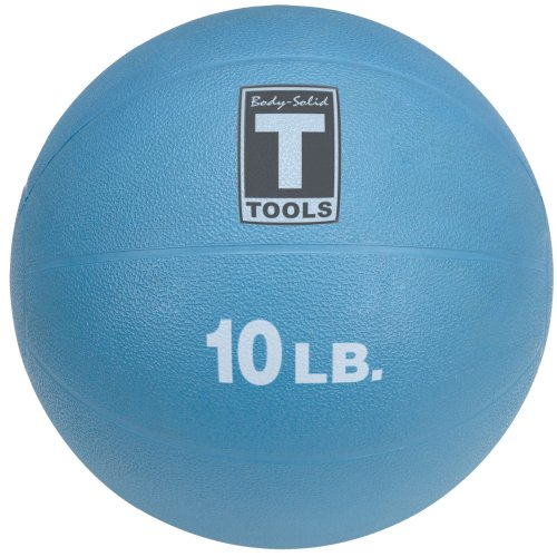 Body Solid Tools BSTMB10 10-Pound Medicine Ball (Blue)