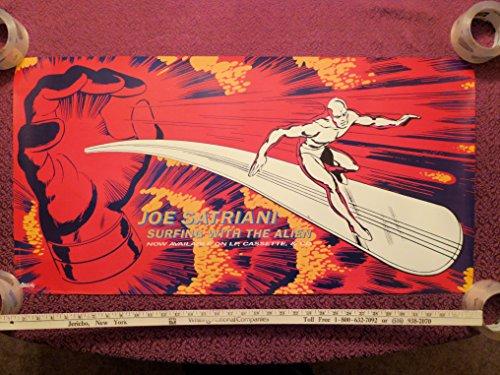 JOE SATRIANI Surfing With The Alien LP Album PROMO ONLY POSTER Vintage 1987 ORIGINAL ()
