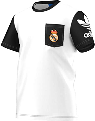 adidas Originals Real Madrid Bolsillo Camiseta: Amazon.es ...