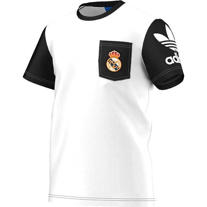 adidas Originals Real Madrid Bolsillo Camiseta: Amazon.es ...