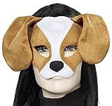 Forum Novelties Plush Dog Mask, Brown/White, One Size