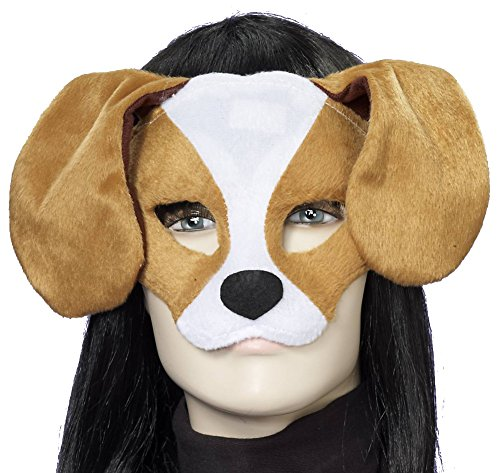 Forum Novelties Plush Dog Mask, Brown/White, One Size
