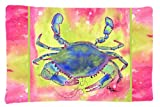 Caroline's Treasures 8343PILLOWCASE Crab Moisture Wicking Fabric Standard Pillowcase, Large, Multicolor