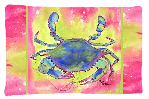 Caroline's Treasures 8343PILLOWCASE Crab Moisture Wicking Fabric Standard Pillowcase, Large, Multicolor