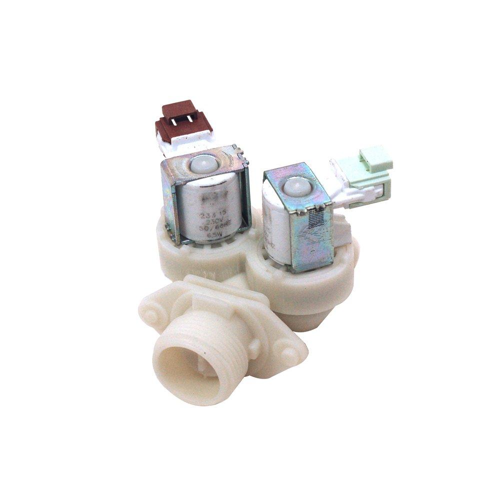 Genuine ZANUSSI Lavadora Doble solenoide válvula de entrada ...