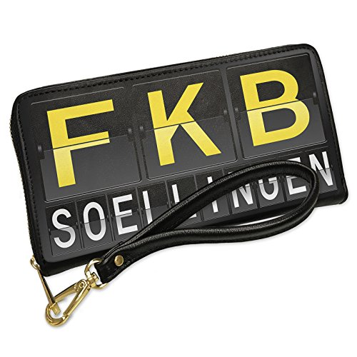 Wallet Clutch Fkb Airport Code For Soellingen With Removable Wristlet Strap Neonblond