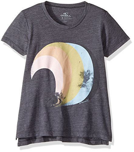O'Neill Big Girls' Wave Time Screen Print Tee, Periscope, (Oneill Wave)