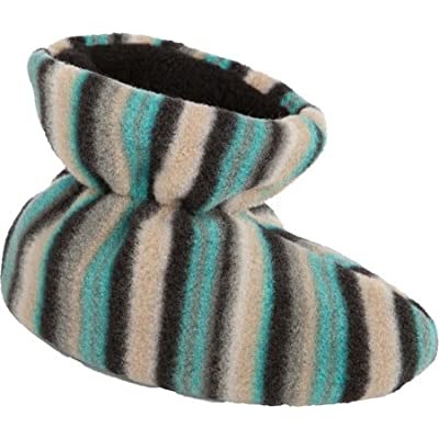 Acorn A10811 Kids Easy Bootie Slipper,Neutral Fun Stripe,TL