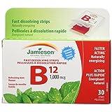 Jamieson Vitamin B12 1,000 mcg (Methylcobalamin) - Fast Dissolving Strips