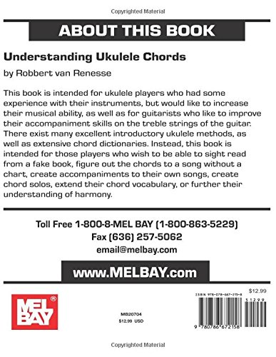 Amazon Mel Bay Understanding Ukulele Chords 9780786672158