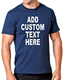 Add Your Own Custom Text Name or Message on Your Personalized T-Shirt (Xlarge, Navy)