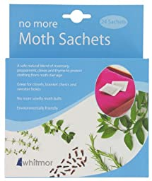 Whitmor  Fresh Care Collection No More Moth Sachet, Set of 24