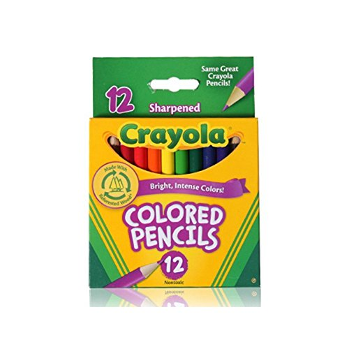 Crayola 68-4112 Colored Pencils, Short, 12 Count (Pack of 2)]()