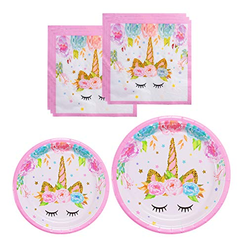 Unicorn Themed Party Supplies Set