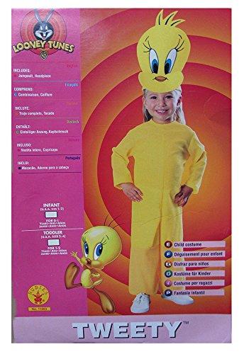 Rubie's Toddler-Girls 'Tweety' Halloween Costume, Yellow, -