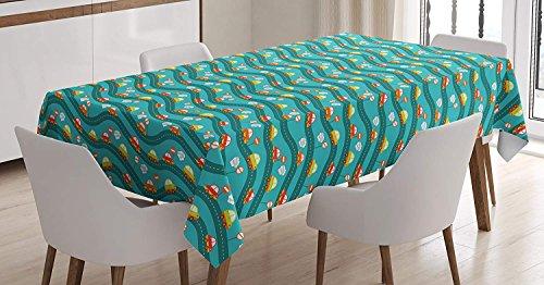 cars tablecloth linen decor table