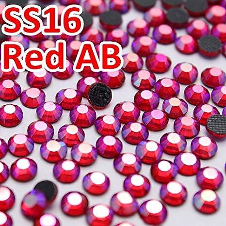 ASTONISH SS16 3.8-4mm, 1440pcs / la bolsa de Siam AB Red DMC HotFix FlatBack de diamantes de imitación, máquina de cortar hierro en cristales de prendas de vestir piedras piezas de bricolaje