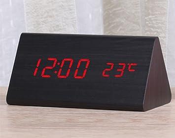 Dong Reloj Despertador Creativo LED Reloj electrónico Luminoso Reloj Digital Niños de Mesa Moderno Reloj de Mesa de Escritorio de Estudiante (Color : 3#): ...