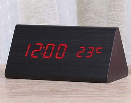 Dong Reloj Despertador Creativo LED Reloj electrónico Luminoso Reloj Digital Niños de Mesa Moderno Reloj de