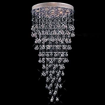 Modern Contemporary Chandelier Rain Drop Chandeliers Lighting With - Chandelier drop crystals