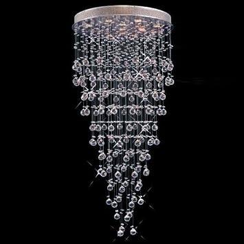 Modern contemporary chandelier rain drop chandeliers lighting with modern contemporary chandelier rain drop chandeliers lighting with crystal balls w 36 x h 90 raindrop chandelier amazon aloadofball Gallery