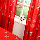 66'x72' ARSENAL FC FOOTBALL CLUB ECHO CREST READY MADE CURTAINS SET THE GUNNERS