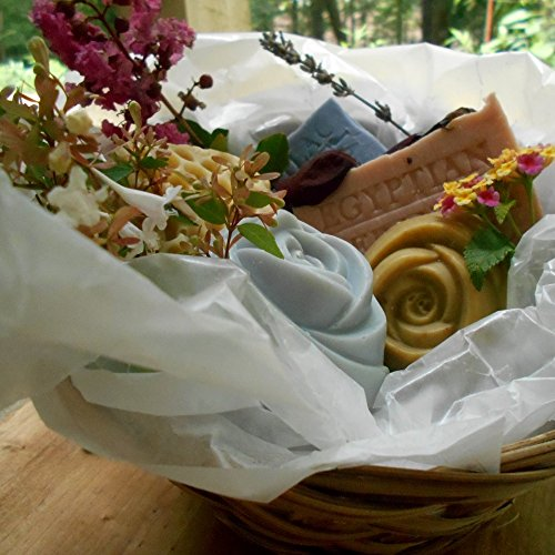 Five Piece All Natural Holiday Handmade Soap Gift Basket