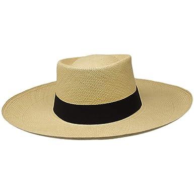 55f3ccc25 Gamboa Genuine Unisex Panama Hat Wide Brim Sun Hat Gambler Straw