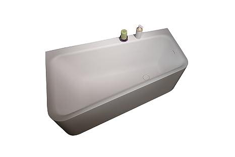 Angolare Per Vasca Da Bagno : Aquatica jane wht solido superficie angolare per vasca da bagno