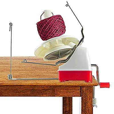 On Yarn Ball Winder Hefty Hand Operated Jumbo Size Knitting Yarn Winder from On Yarn Ball Winder