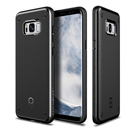 Galaxy S8 Plus Case Patchworks Flexguard Case Black for Samsung Galaxy S8 Plus – Slim Fit Protective Case Extreme Cover with Poron XRD