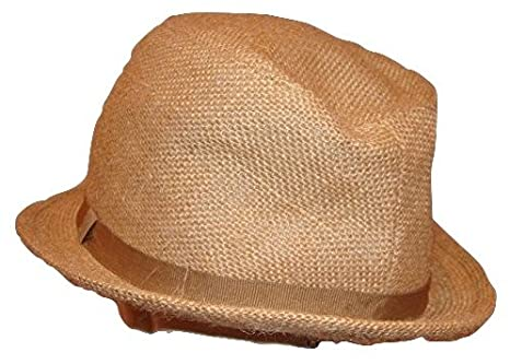 3a9ff45a3 John Lewis Mens Hessian Smart Stone Trilby Hat Medium: Amazon.co.uk ...