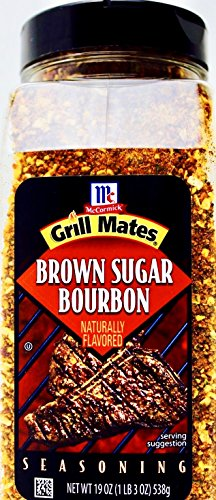 Bourbon Sugar - McCormick Grill Mates Brown Sugar Bourbon Seasoning, 19 OZ