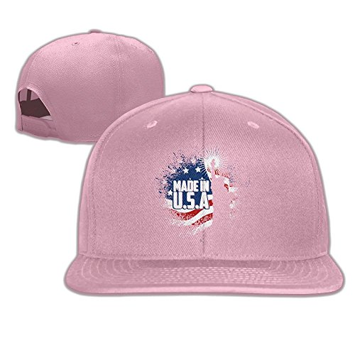 Yishuo Men's Liberty American Flag 4th Of July Cup Classic Hip-Hop Pink Cap Adjustable Snapback