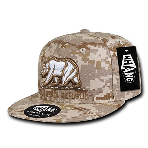 Cap Bill Camo (WHANG California Republic Snapbacks, Desert Digital)