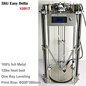 3KU Updated Metal Structure Delta 3D Printer one key leveling and support laser module 250g PLA and heat bed from Shenzhen 3K Technology and Science Co., LTD