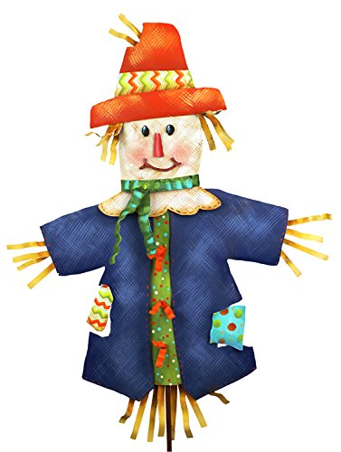 The Round Top Collection Patterned Scarecrow-Md - Metal