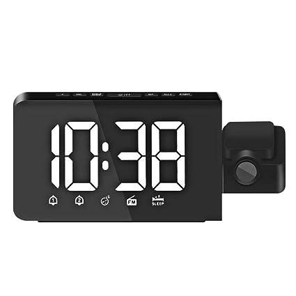B Blesiya Reloj Proyector Reloj Despertador Tiempo de ...