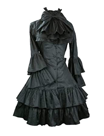 Amazon Emonjay Womens Victorian Lolita Gothic Dress With
