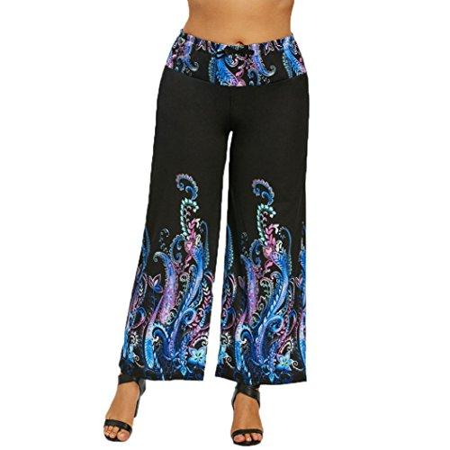 Qisc Women Pants Womens Comfy Vintage Boho Printed High Wais
