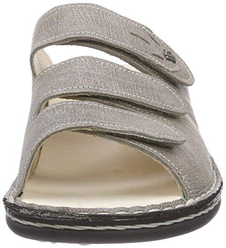 Finn Comfort Kos, Women's Wedge Heel Open Sandals Grey - Grau (Rock)