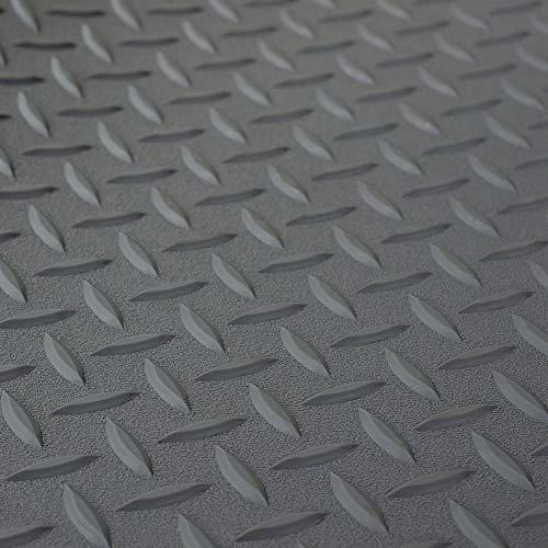 RV Trailer Diamond Plate Pattern Flooring | Gray | 8