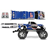 Designer Decal for Traxxas Stampede VXL 1/10 (#3607L) AMRRACING RC Kit - P40 Warhawk - Blue