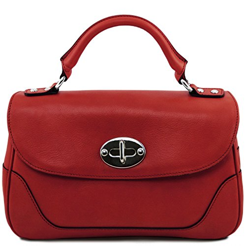 Tuscany Leather - TL NeoClassic - Bolso a mano pequeño en piel - TL141227 (Azul oscuro) Rojo