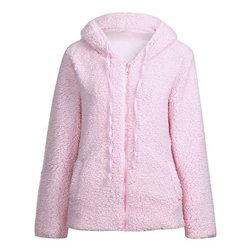 ... de algodón cálido de Lana cálida de Invierno Chaqueta de Punto Chaqueta de Abrigo de Piel sintética de Felpa Abrigo Delgado Chaqueta: Amazon.es: Ropa ...