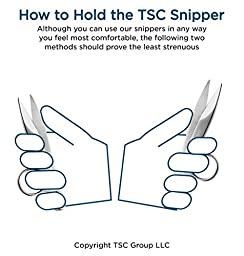 TSC Quick Action 4.5 inch Thread Snipper (Scissors) - Professional Series - for Sewing, Tailoring, Dressmaking and Crafting