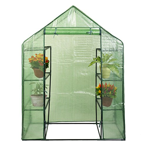 Cheap NEW Portable Mini 8 Shelves Walk In Greenhouse Outdoor 4 Tier Green House