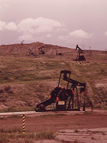 "Photography Poster - OIL WELLS NEAR TEAPOT DOME, WYOMING - 24""x17.5"""